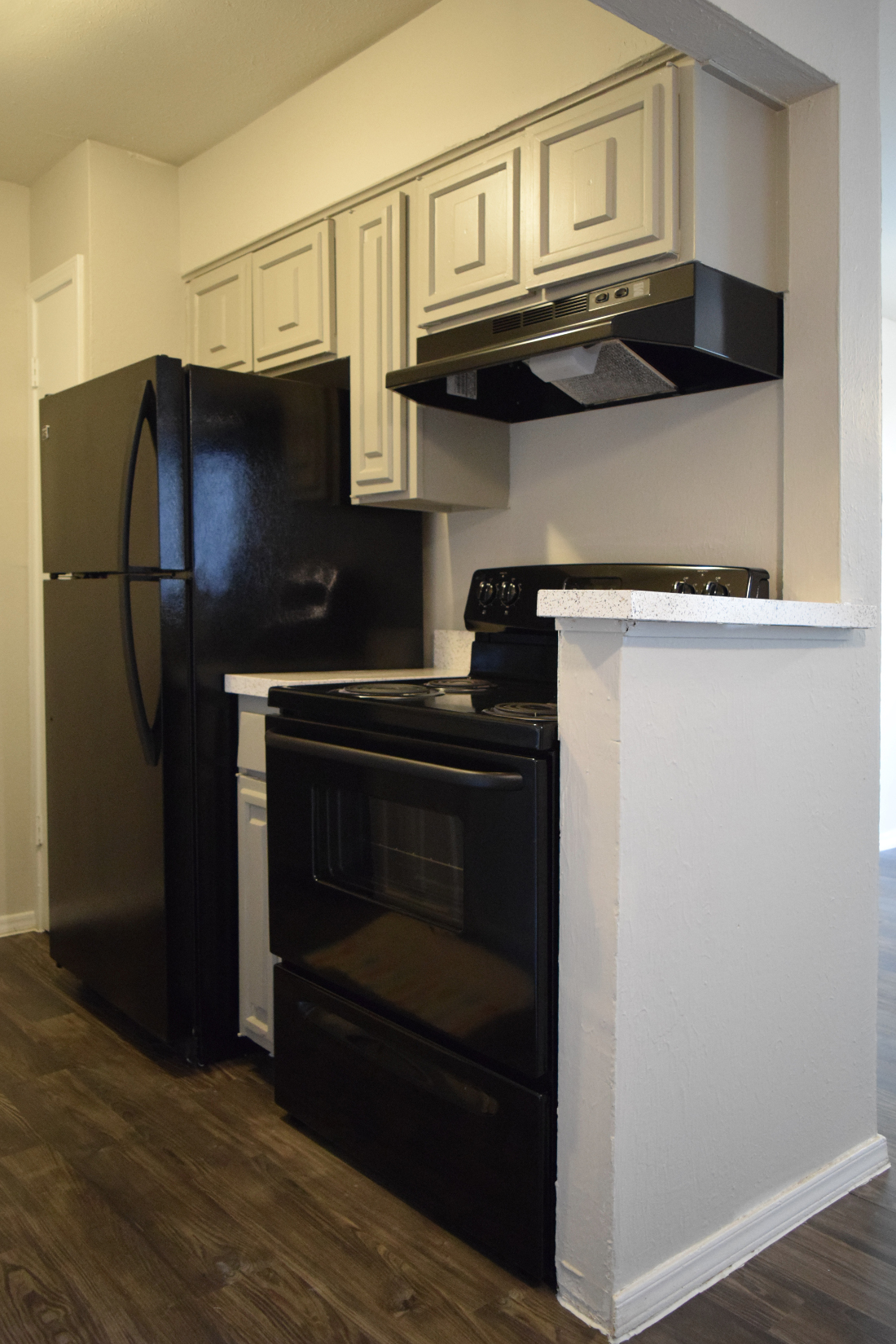 Black Kitchen Appliances at The Point on Redmond Apartments in College Station, TX