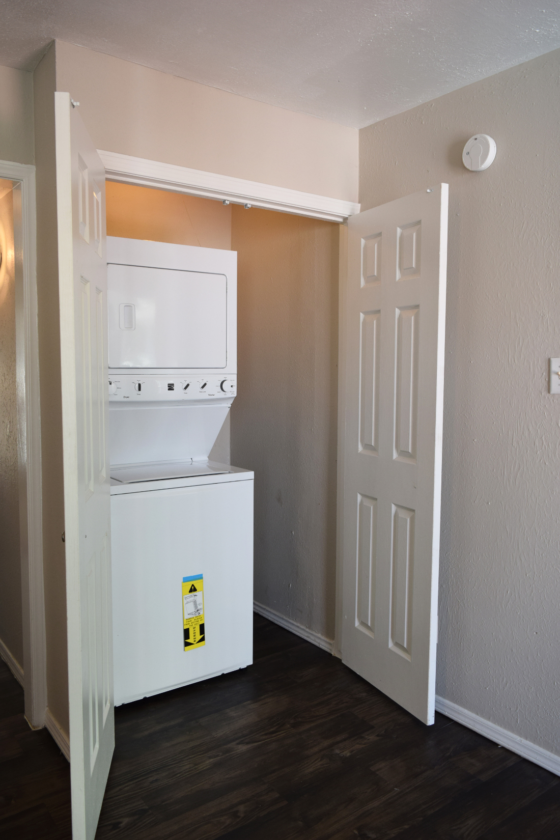 Stackable Washer and Dryer at The Point on Redmond Apartments in College Station, TX