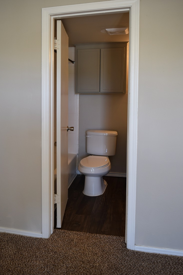 Half Bathroom at The Point on Redmond Apartments in College Station, TX