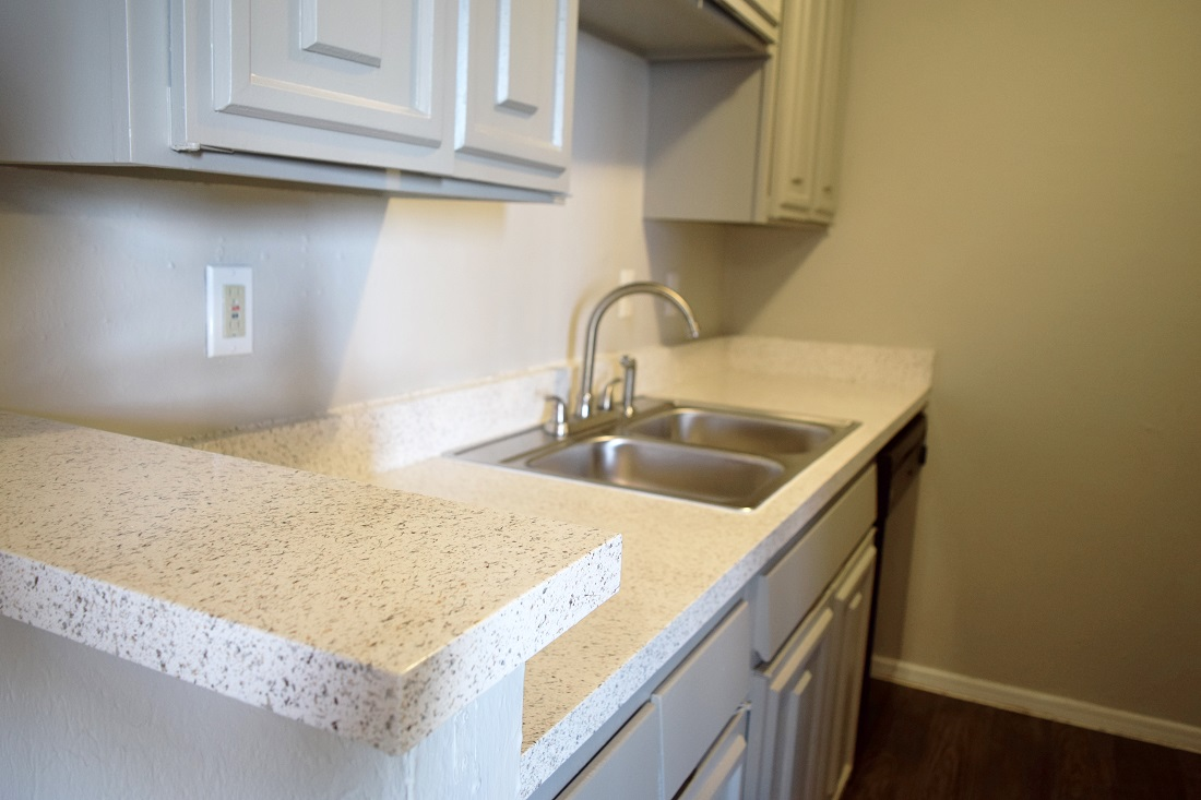 New Kitchen Countertops at The Point on Redmond Apartments in College Station, TX