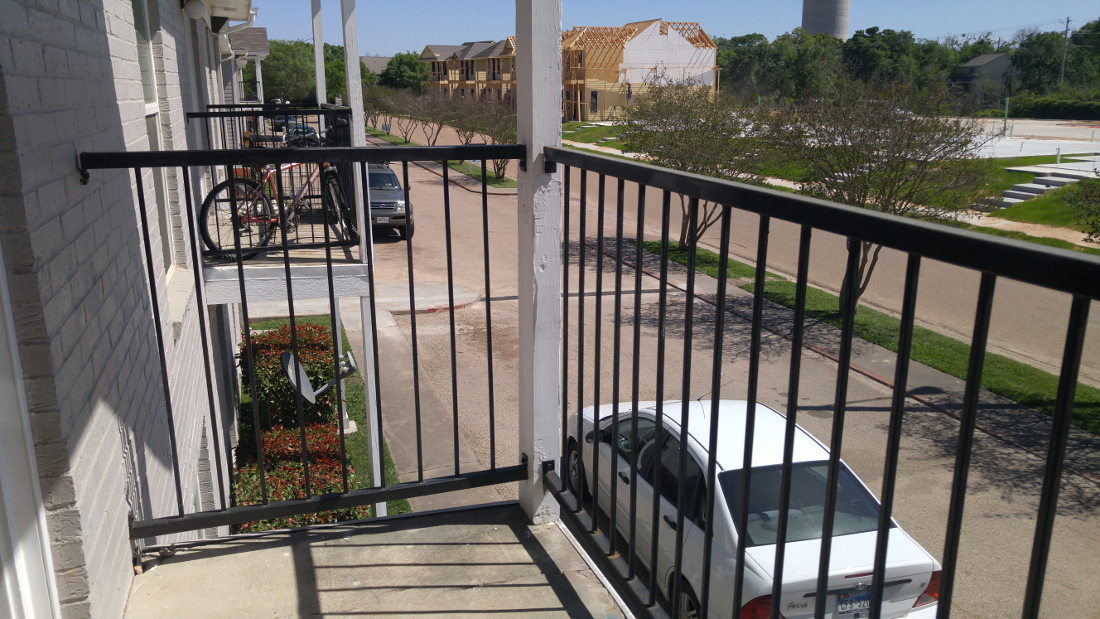 Balcony View at The Point on Redmond Apartments in College Station, TX