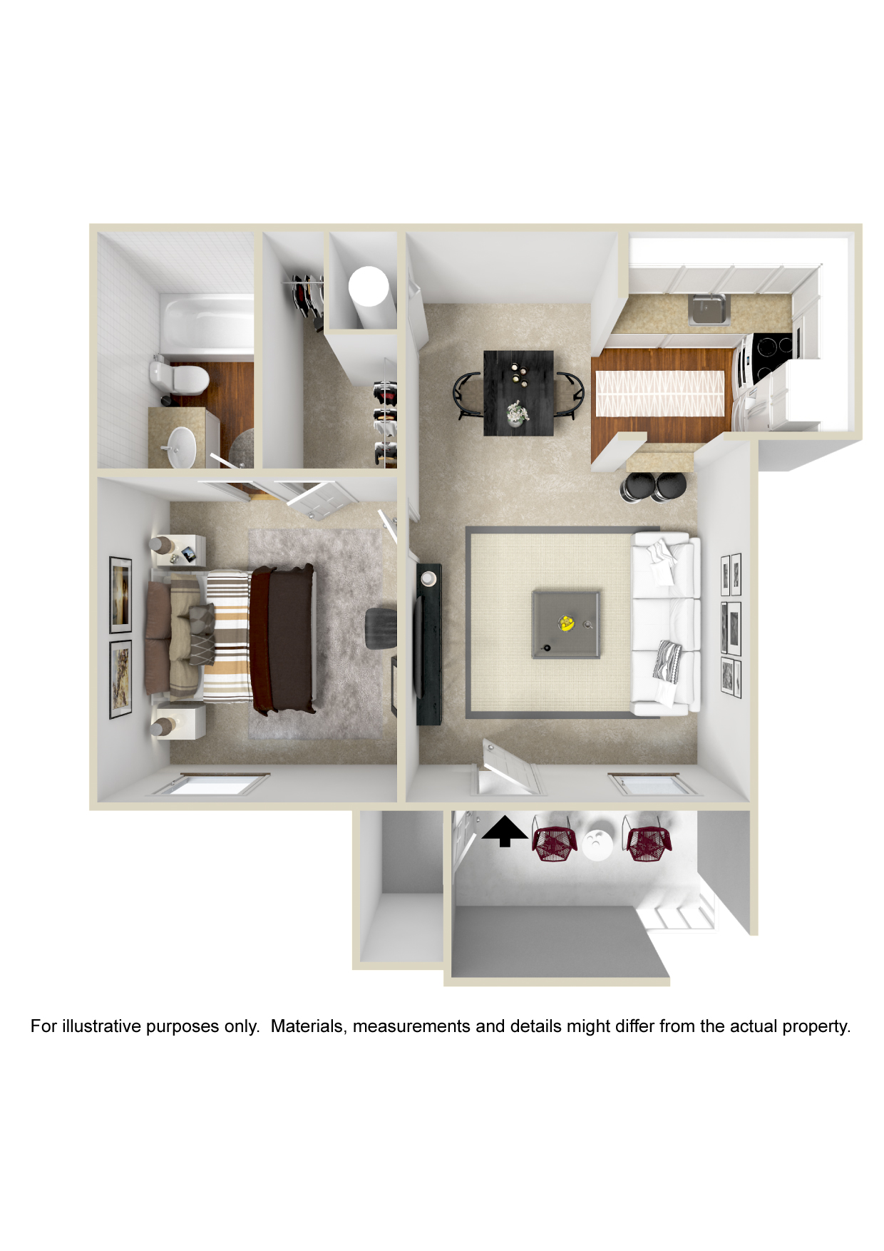 Polo Club Apartments - Floorplan - Plan A1