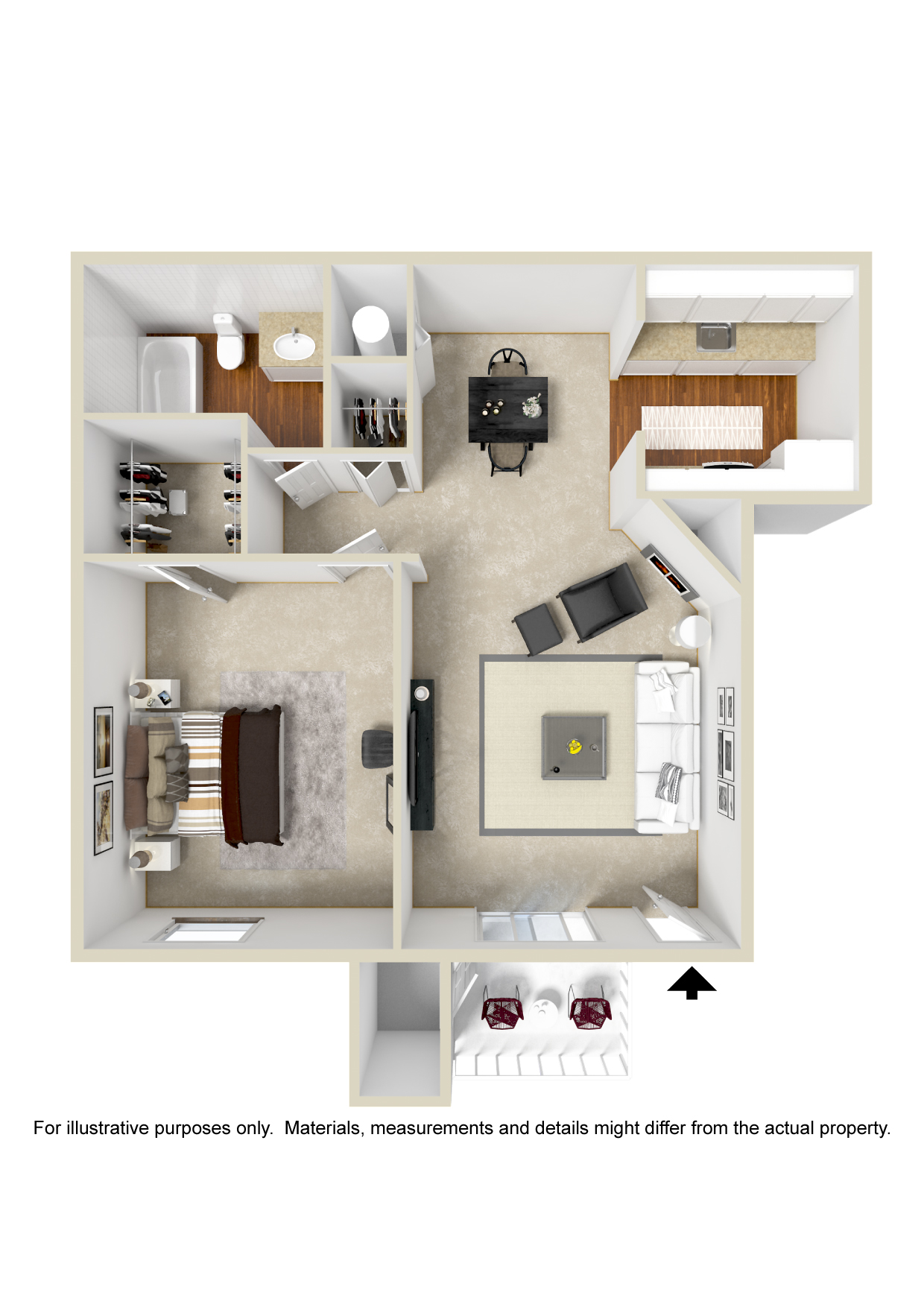 Polo Club Apartments - Floorplan - Plan A2