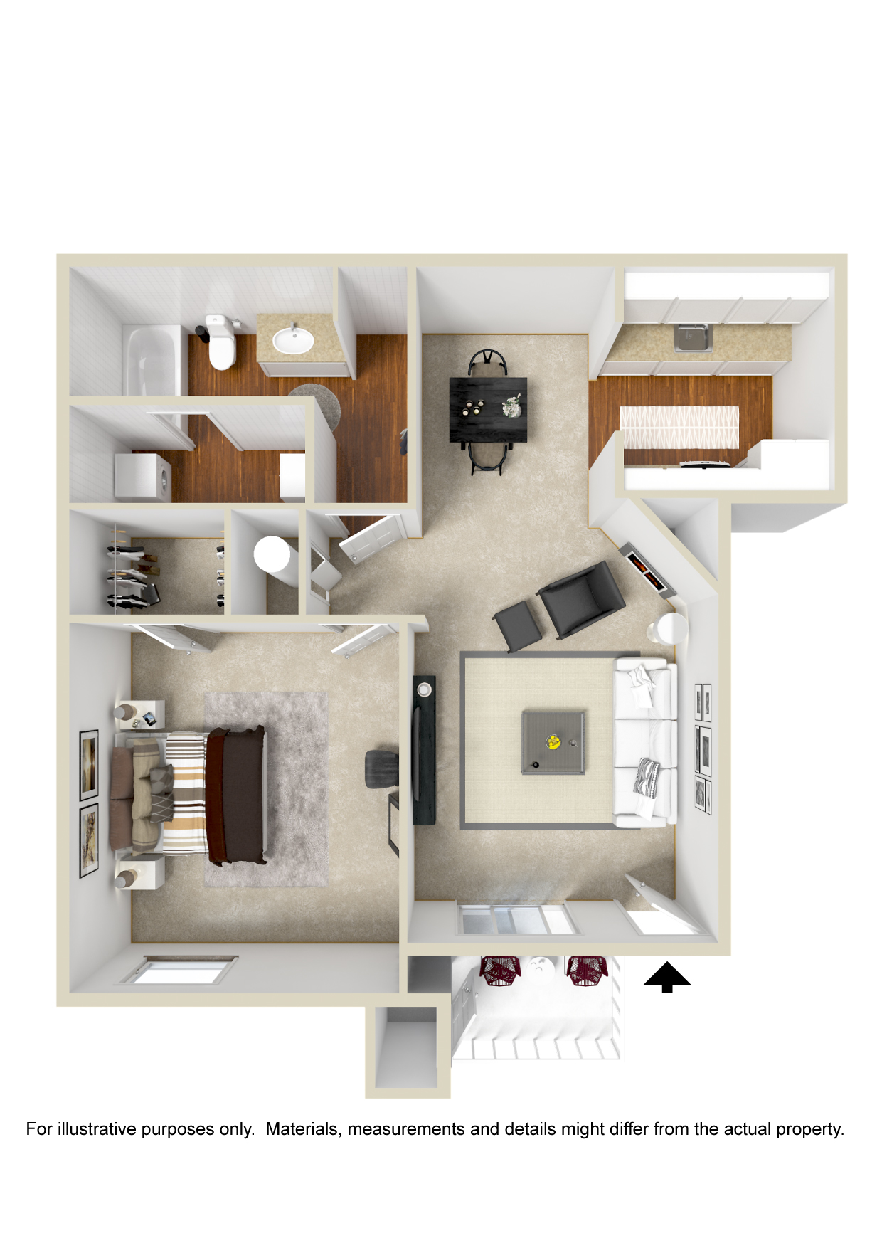 Polo Club Apartments - Floorplan - Plan A3