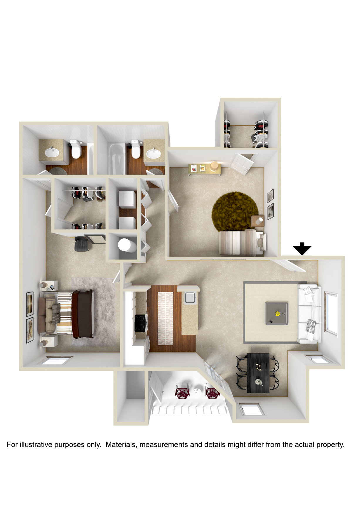 Floorplan - Plan B2 image