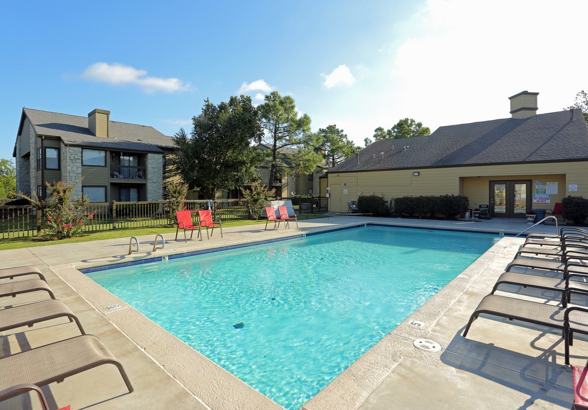 Sparkling Pool at the Polo Club Apartments in Tulsa, OK