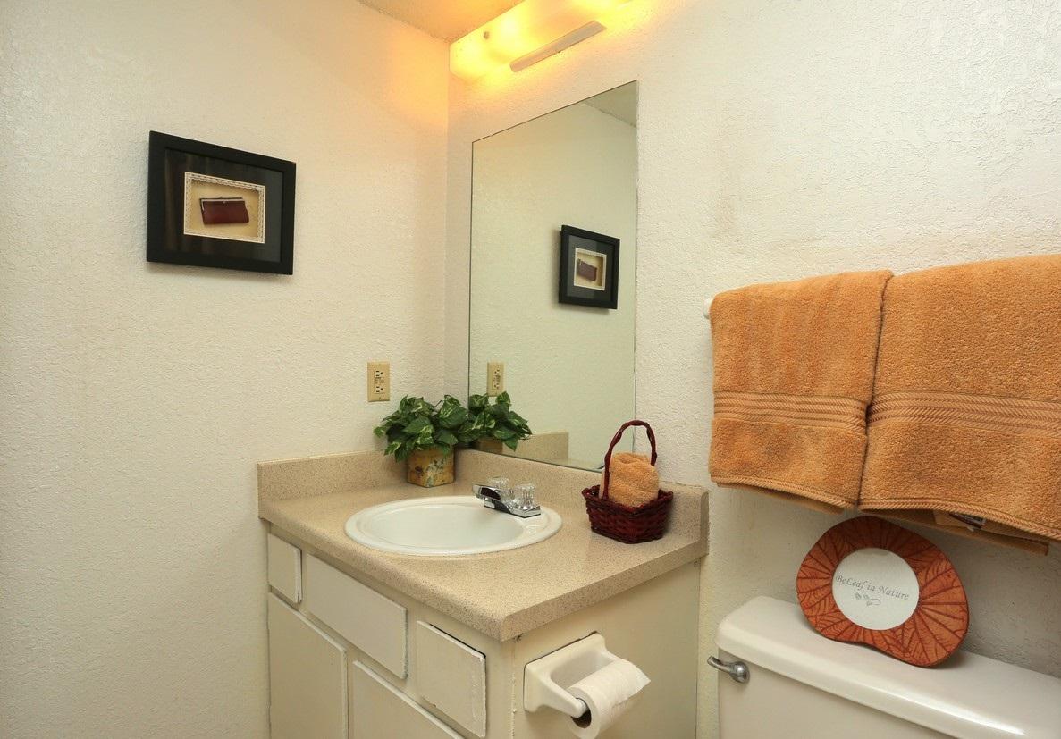 Bathroom at the Polo Club Apartments in Tulsa, OK