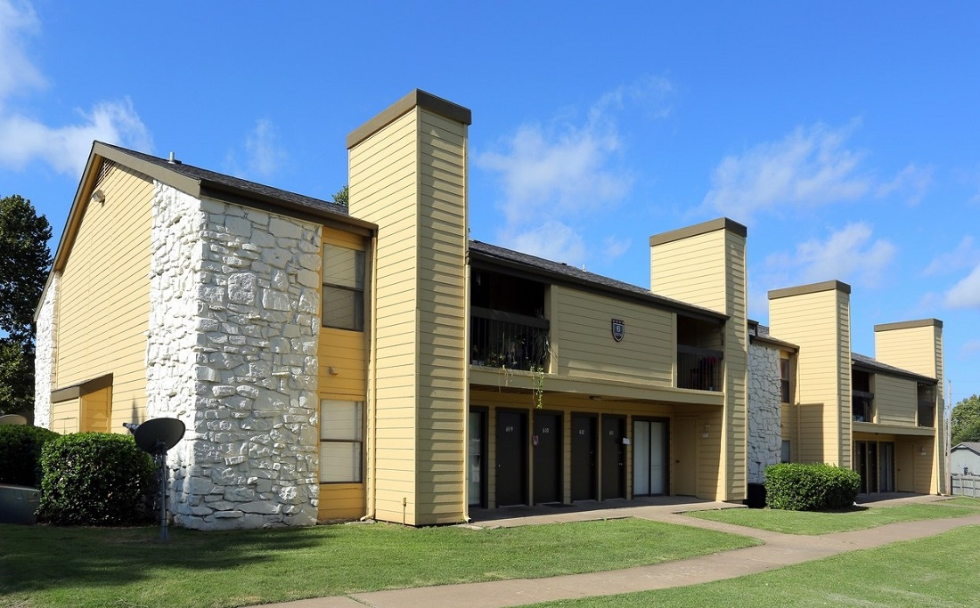 Exterior at the Polo Club Apartments in Tulsa, OK
