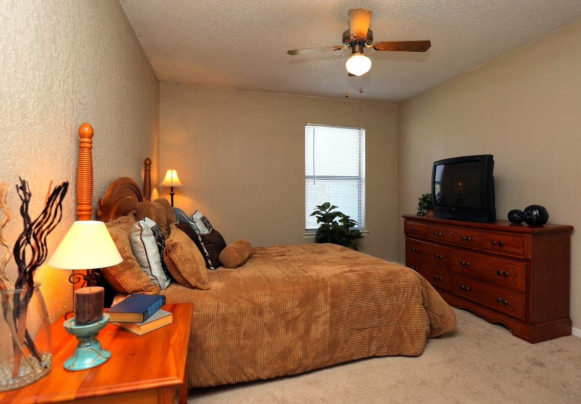 Bedroom Interior at the Polo Club Apartments in Tulsa, OK