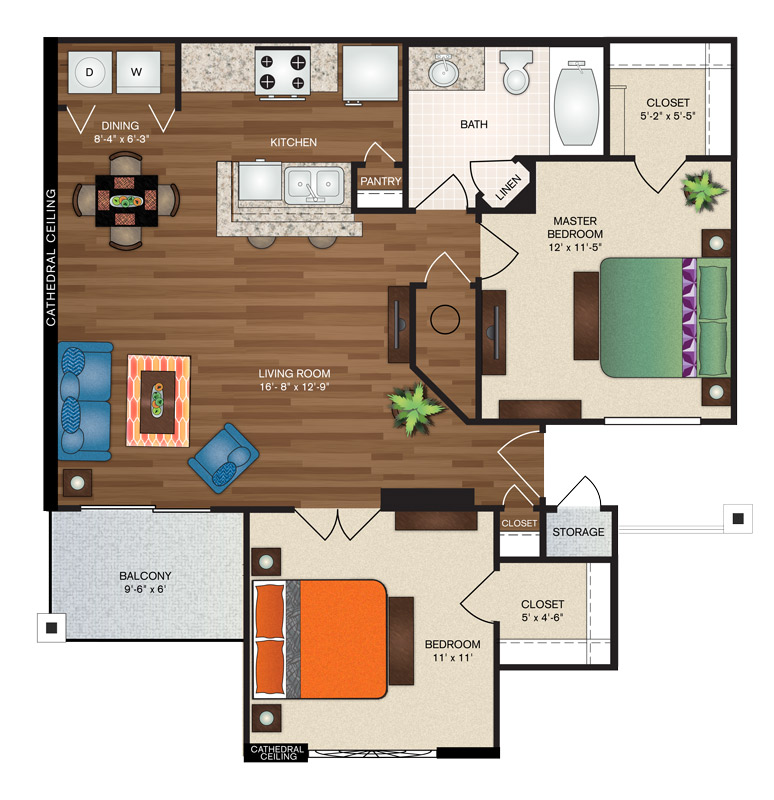 Floorplan - The London Deluxe image