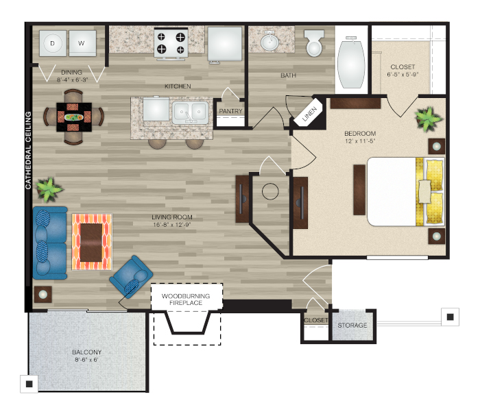 Floorplan - The Abby Deluxe image