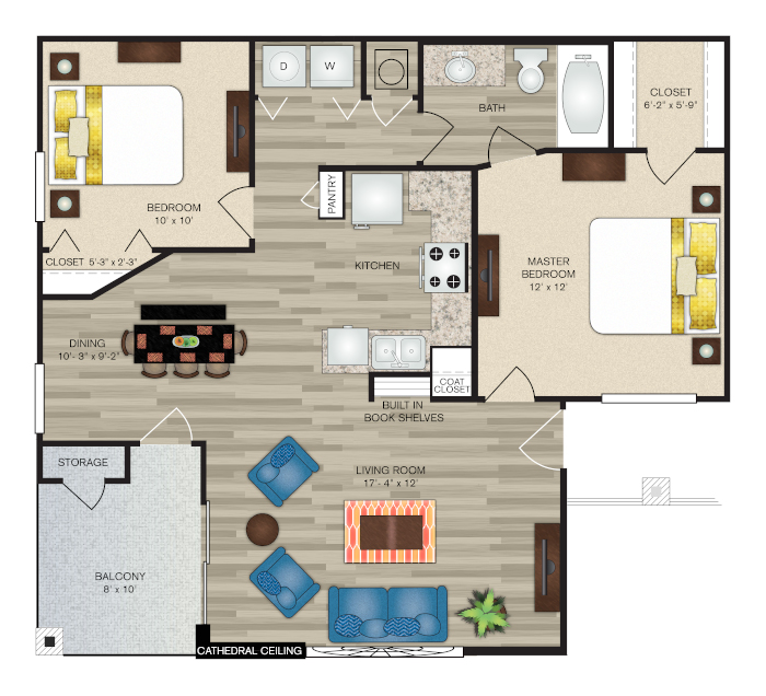 Floorplan - The Easton Deluxe image