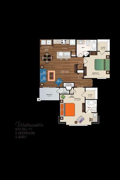 Floorplan - The Westminster Deluxe image