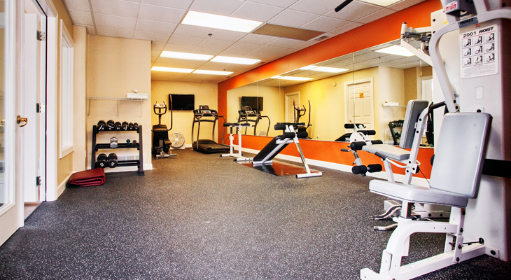 Fitness Center at the Polo Downs Apartments in Fenton, MO