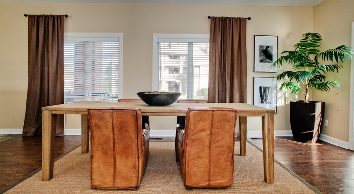 Dining Room at the Polo Downs Apartments in Fenton, MO