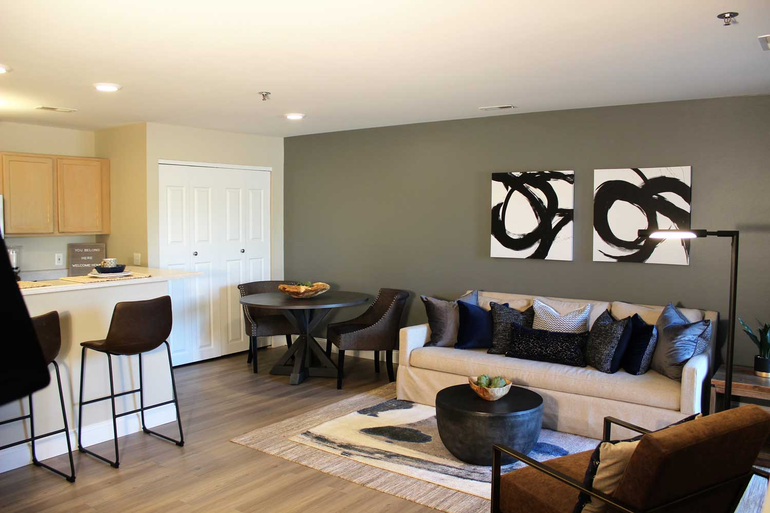 Living Area at Polo Downs Apartments in Fenton, MO
