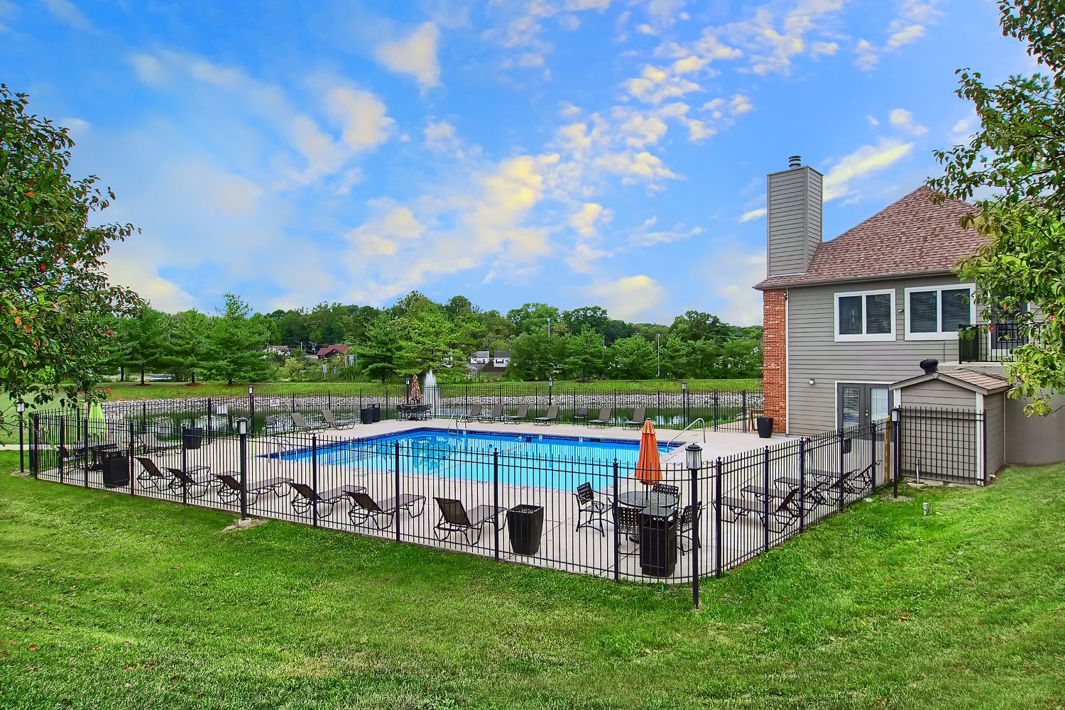 Sparkling Pool at Polo Downs Apartments in Fenton, MO