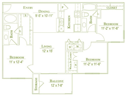 Post Oak East Apartments - Floorplan - Plan C1