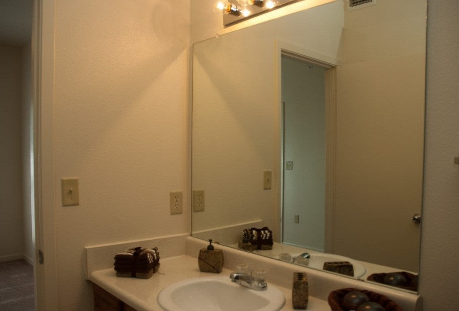 Bathroom Interior at the Post Oak East Apartments at Euless, TX