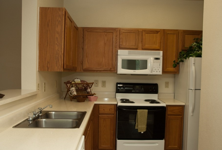 Kitchen Area at the Post Oak East Apartments at Euless, TX