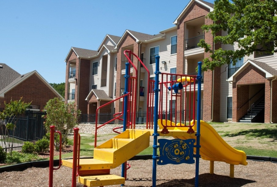 Kids' Play Area at the Post Oak East Apartments at Euless, TX