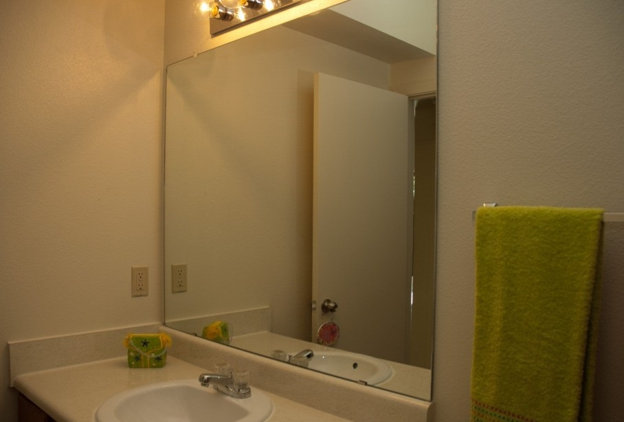 Bathroom Area at the Post Oak East Apartments at Euless, TX