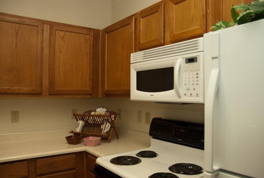 Kitchen Interior at the Post Oak East Apartments at Euless, TX