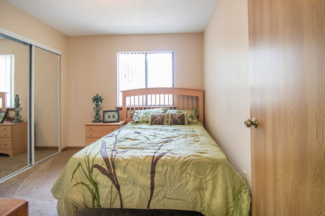 Spacious Bedrooms at Prairie West Apartments in Ames, IA