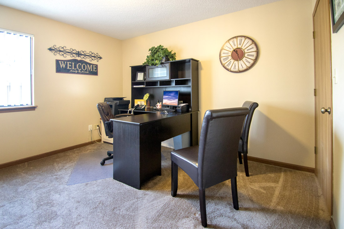 Leasing Office at Prairie West Apartments in North Ames, IA