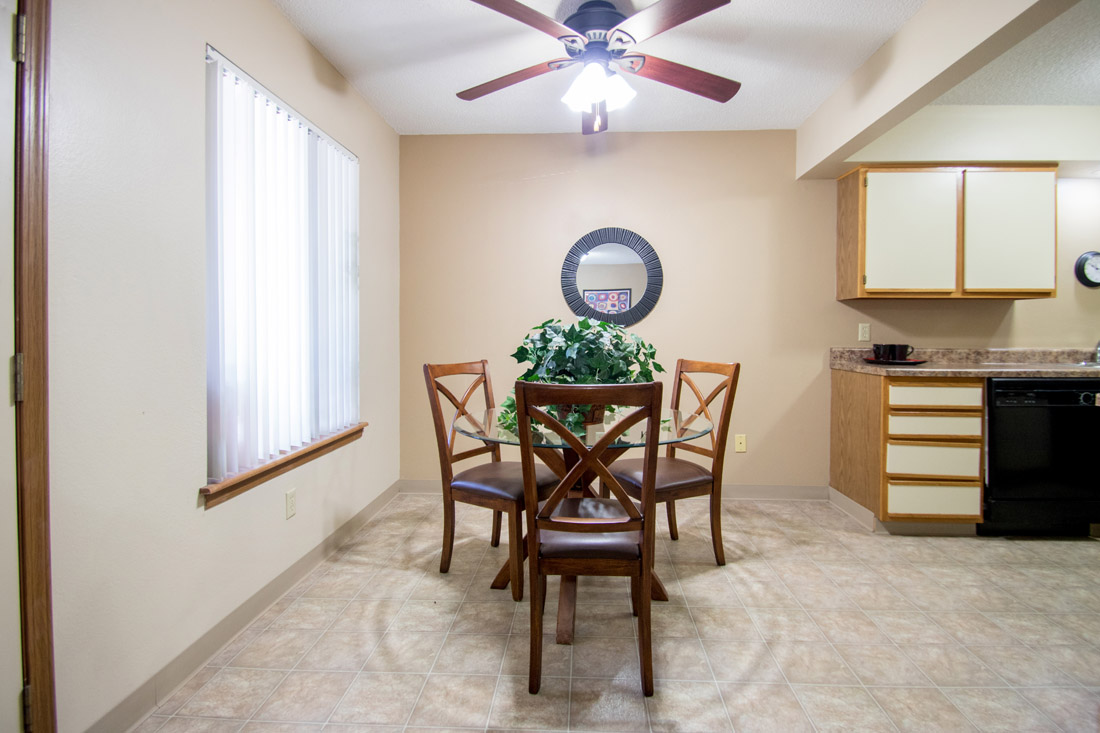 Dining Area at Prairie West Apartments in Ames, IA
