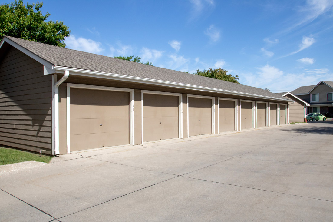 Detached Garages at Prairie West Apartments in Ames, IA