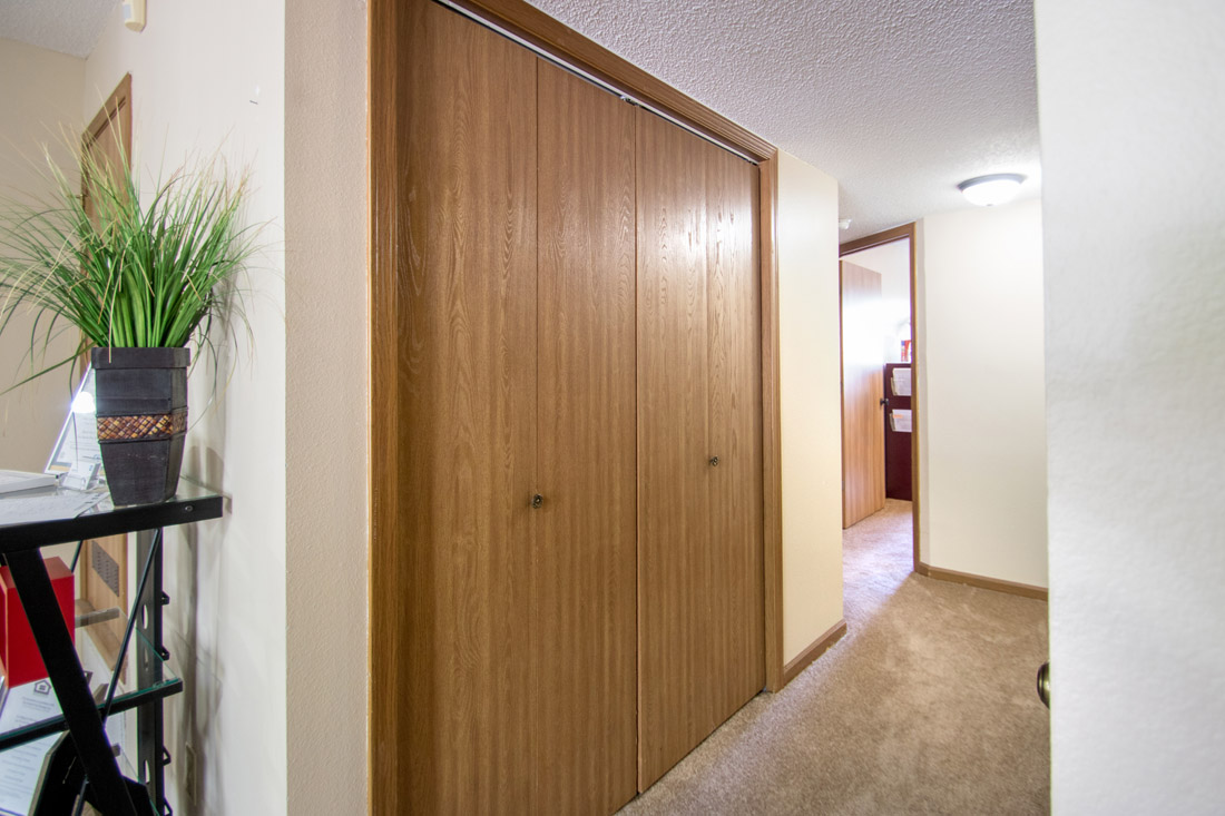 Spacious Walk-In Closets at Prairie West Apartments in Ames, IA
