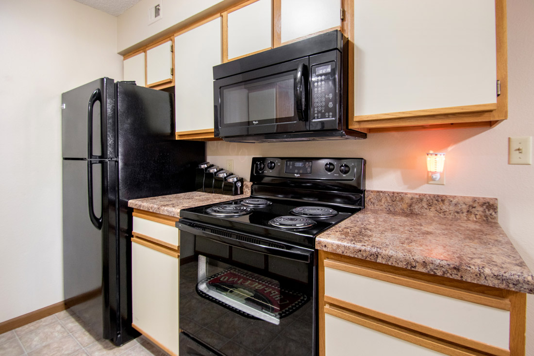 Ample Kitchen Counter Space at Prairie West Apartments in Ames, IA