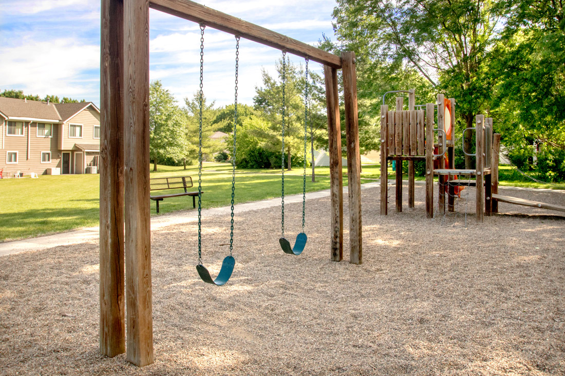 2 & 3 Bedroom Apartments for Rent with Playground at Prairie West in North Ames, IA.