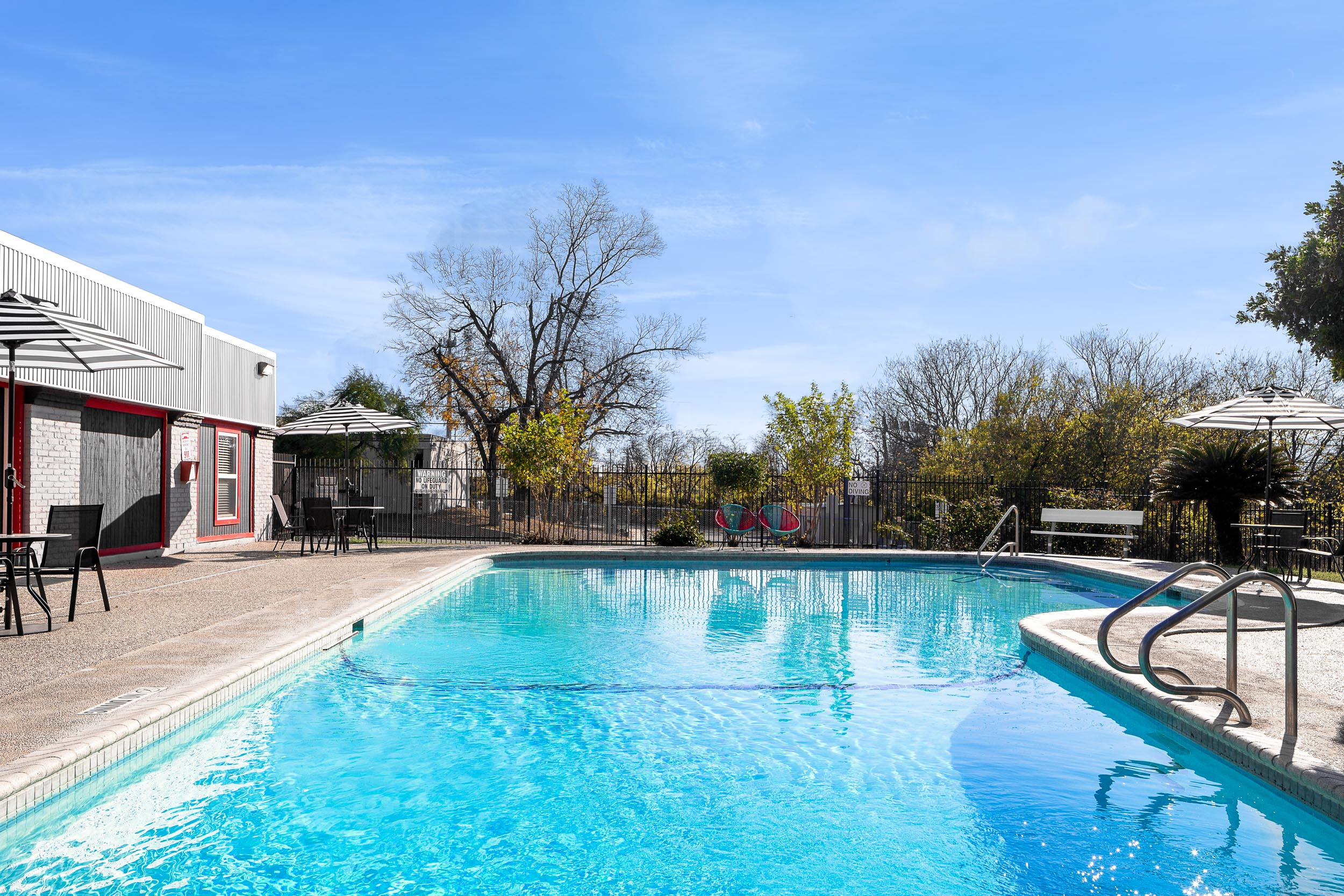 Beautiful Pool at Presidio Flats Apartments in San Antonio, Texas