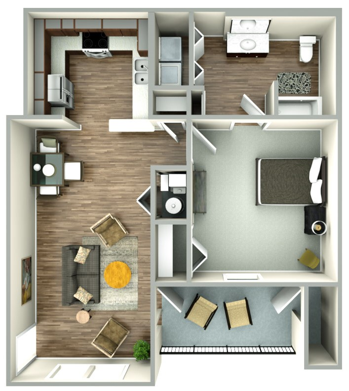 Floorplan - 1bed image