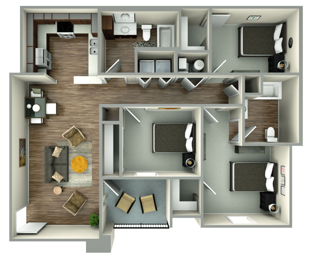 The Reserves at Preston Trails - Floorplan - 3bed