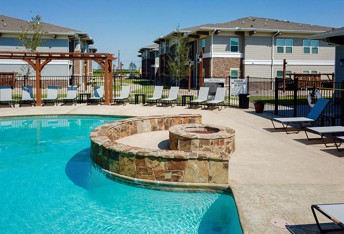 Resort-Style Pool at The Reserves at Preston Trails Apartments in Wolfforth, TX