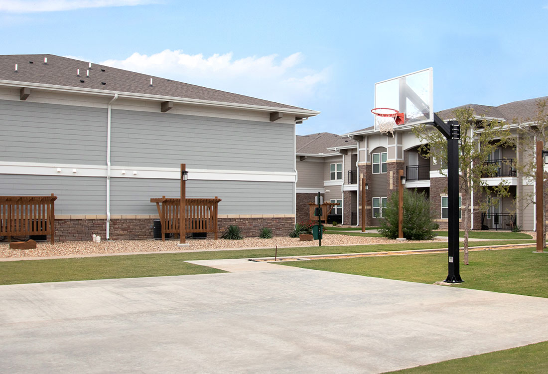 Basketball Court at The Reserves at Preston Trails Apartments in Wolfforth, TX