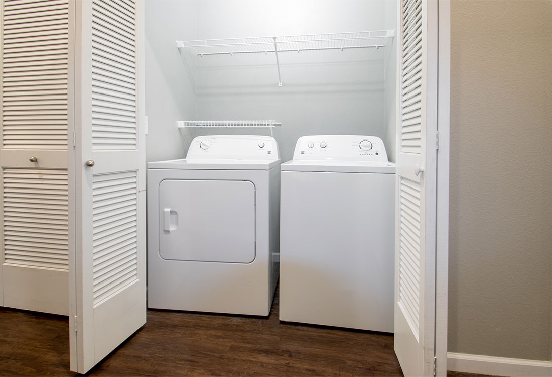 Washer and Dryer at The Reserves at Preston Trails Apartments in Wolfforth, TX