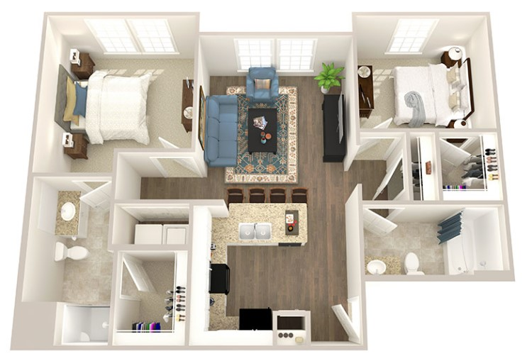 Floorplan - Two Bedroom image