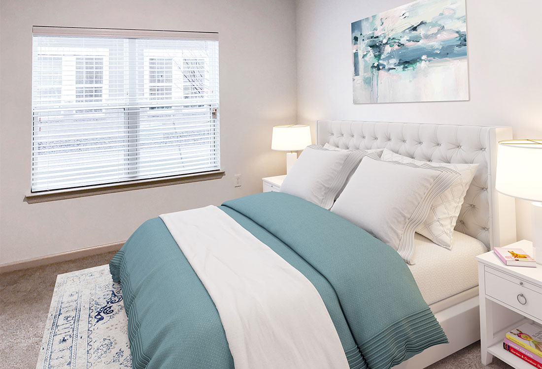Spacious Bedroom with Natural Light at Provision at North Valentine Apartments in Hurst, Texas
