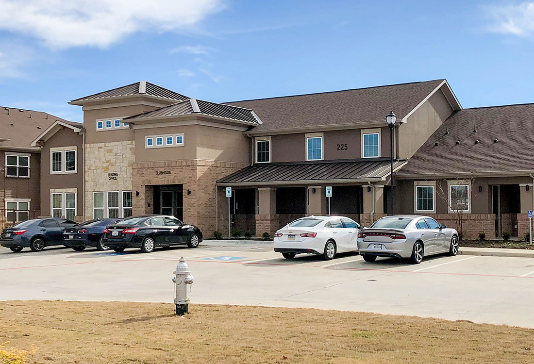 Clubhouse Exterior at Provision at North Valentine Apartments in Hurst, Texas