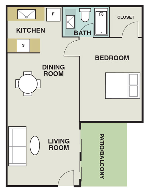 Joule Apartment Homes - Floorplan - A2