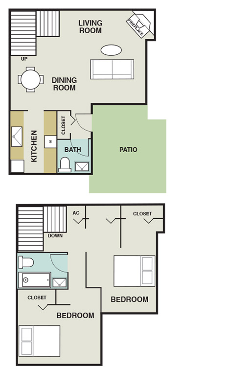 Joule Apartment Homes - Floorplan - B4 Townhome
