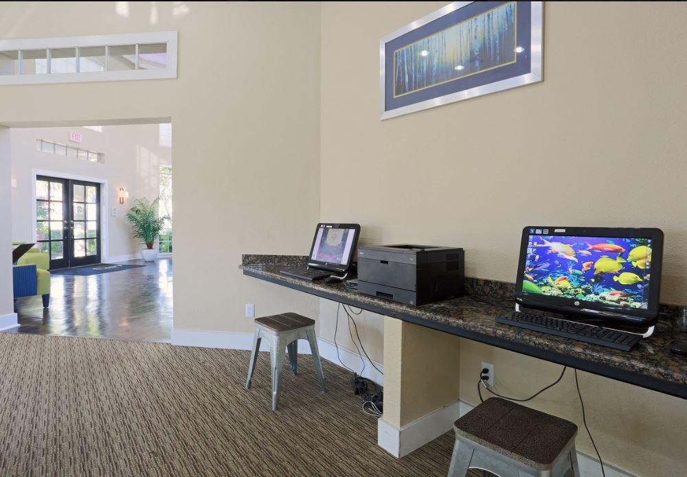 Business Center at Joule Apartments in San Antonio, Texas