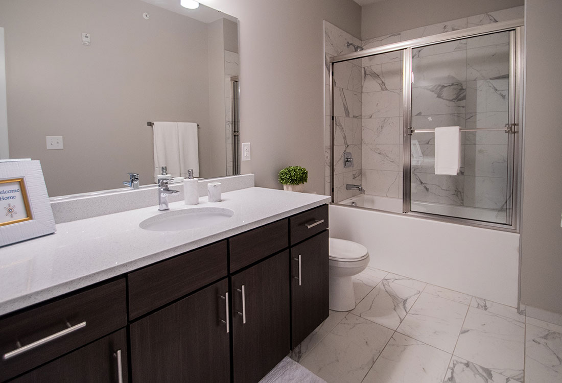 Beautiful, Spacious Bathrooms at Ravello 192 in Elkhorn, Nebraska