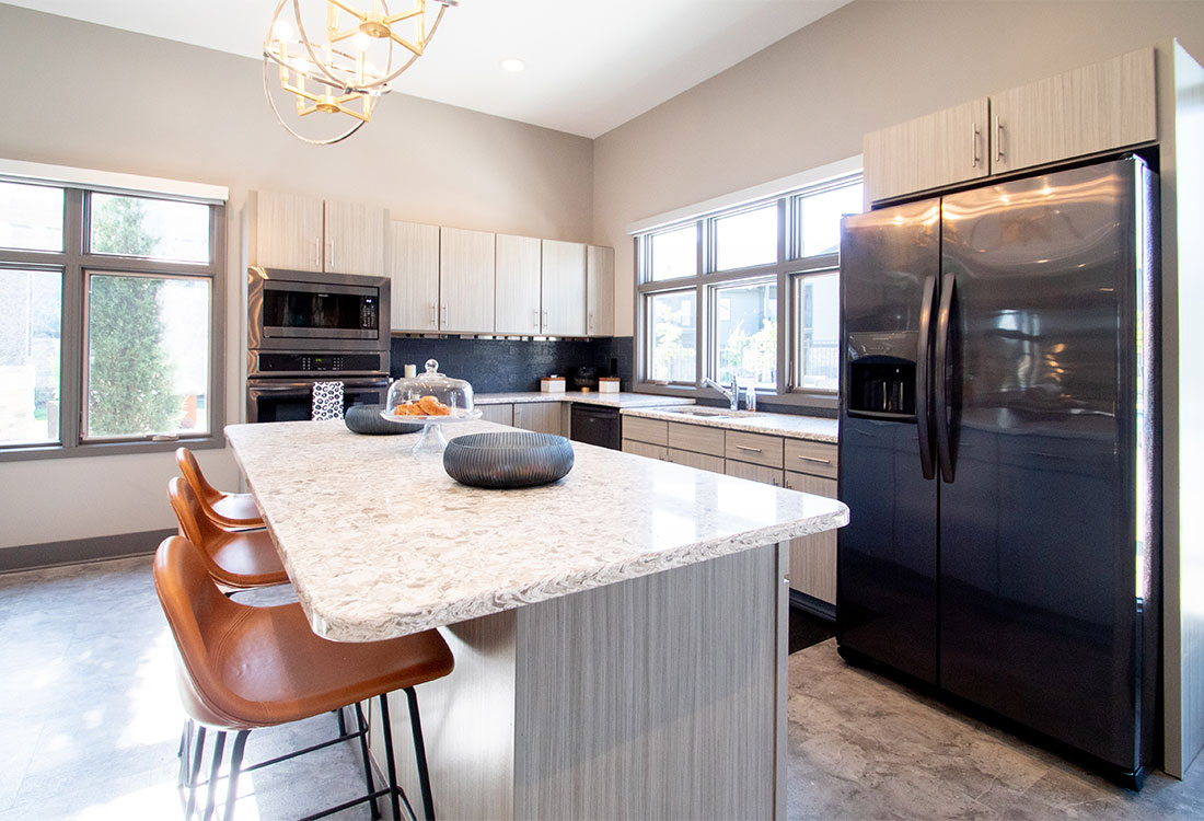 Luxury Clubhouse with Full Kitchen at Ravello 192 in Elkhorn, Nebraska