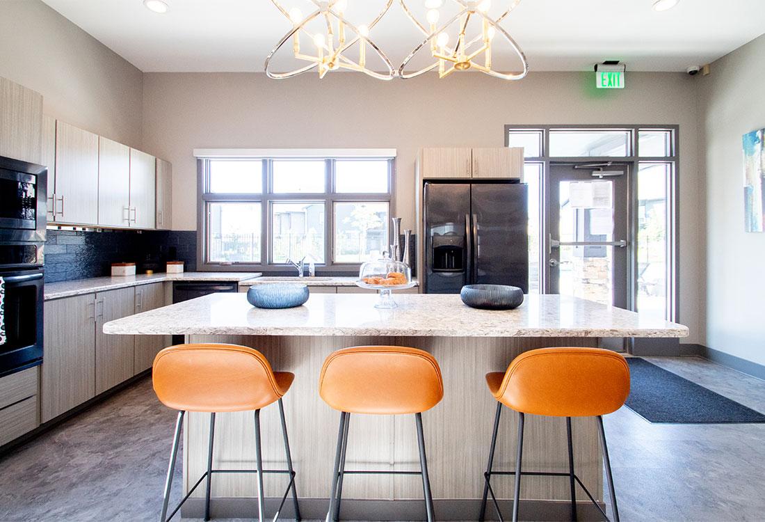 Luxury Clubhouse with Full Kitchen at Ravello 192 in Elkhorn, Nebraska