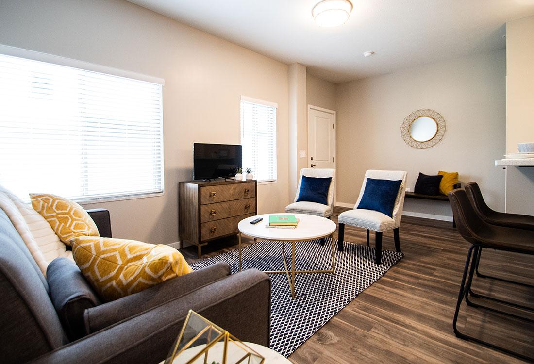Beautiful Wood-Look Flooring at Ravello 192 in Elkhorn, Nebraska